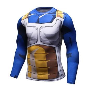 Dragon Ball Z Vegeta Long Sleeve Compression Tee - MH