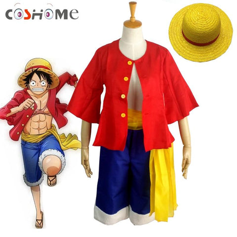4MB One piece Monkey D. Luffy Cosplay (Shirt+ Pants+ Wigs+ Shoes) - MH