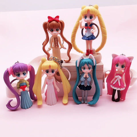 Cute Sailor Moon Characters Keychain Model - MH