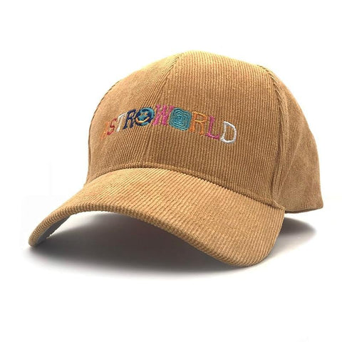Dad Hat Travis Scotts Latest Album Astroworld Cap 100% corduroy Embroidery women men Baseball Caps Dropshipping Bone Garros - MH