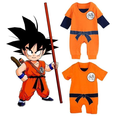 2MB Dragon Ball Baby Rompers Newborn Baby Boys Clothes SON GOKU Toddler Jumpsuit Bebes Halloween Costumes For Baby Boy Girl Clothing - MH