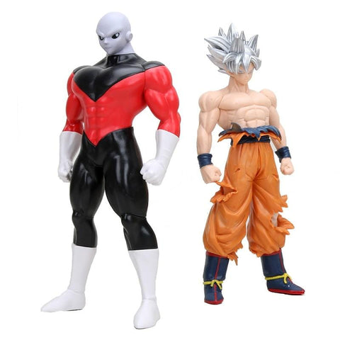 2MB Dragon Ball Super Ultra Instinct GOKU Jiren Figure Migatte Action Figure Toys Model Goku White God DBZ Figurines - MH