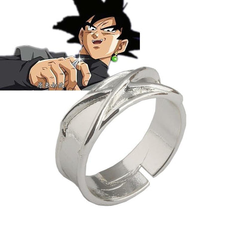 Dragon Ball Z Dark Goku Time Ring Cosplay Prop Black Gogeta Model Toy Adjustable Ring - MH