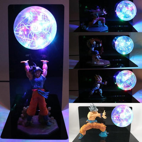 2MB  Dragon Ball Z Super Goku Vegeta Gogeta Action Figures Lamp Ultra Instinct DIY Anime Model Bedroom Decorative Night Light Gifts - MH