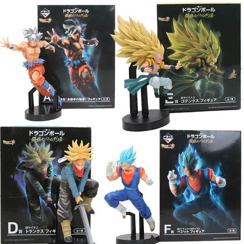 2MB Dragon ball z Ultra Instinct son gohan goku silver hair Migatte no Gokui vegetto trunks Gotenks Action Figure toy - MH