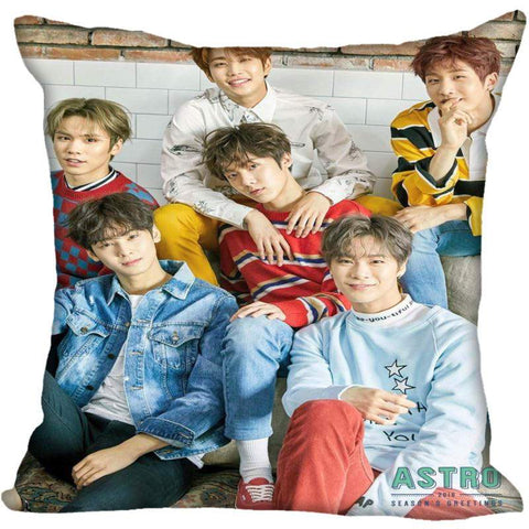 2MB  KPOP ASTRO Printed Silk Square Pillow case - MH