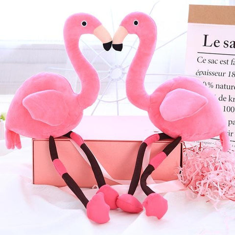 Fluffy Hair Flamingo Plush toy - MH