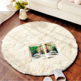 Fluffy Round Rug Carpets for Living Room Decor Faux Fur Carpet Kids Room Long Plush Rugs for Bedroom Shaggy Area Rug Modern Mat - MH