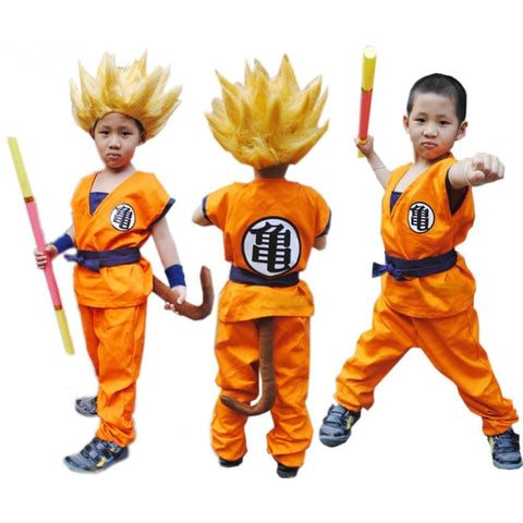 2MB Free Shipping Superior quality Kids Dragon Ball Z Son Goku Cosplay Costume Halloeen Clothing - MH