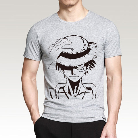 4MB Hot Anime One Piece Monkey.D.Luffy cartoon T Shirt - MH