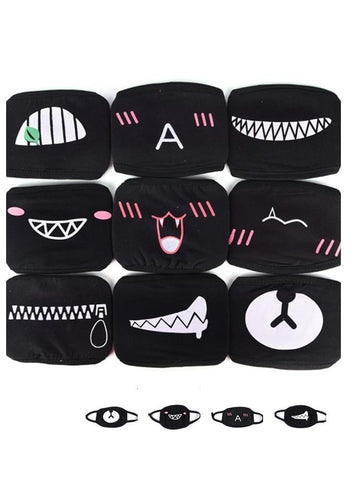 1MB Hot Sale Cartoon Cotton Face Mouth Masks Women Men Dustproof Mouth Face Mask Anime Muffle - MH