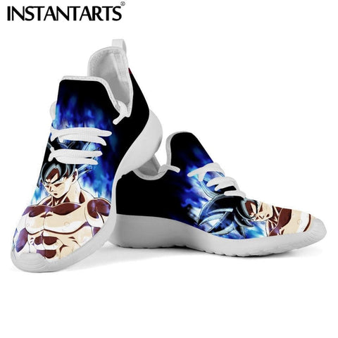 2MB INSTANTARTS Dragon Ball Z Pattern Super Cool Saiyan Son Goku Dragon Ball Men's Mesh Sneakers Summer Lace Up Casual Zapatios Boys - MH