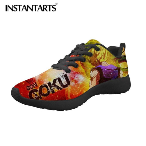 2MB INSTANTARTS Men Casual Shoes Dragon Ball Z Men's Sneakers Anime Super Print Boy Mesh Shoes Saiyan Son Goku Flats Trainer Shoes - MH
