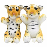 JESONN Realistic Stuffed Animals Tiger Cheetah Leopard Plush Toys Panther Lion lioness for Kids' Birthday Gifts,20 CM,Pack of 2 - MH