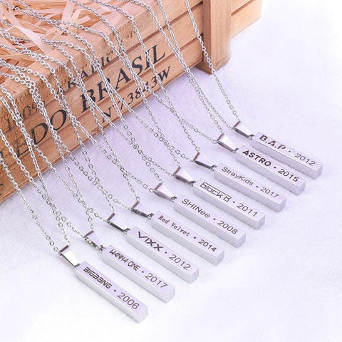 2MB KPOP Necklace (WANNA ONE, BAP,  SHINee, Vixx, Astro, Stray kids, bts) - MH