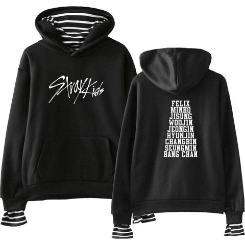 2MB  Stray Kids Fake Two Piece Hoodies - MH
