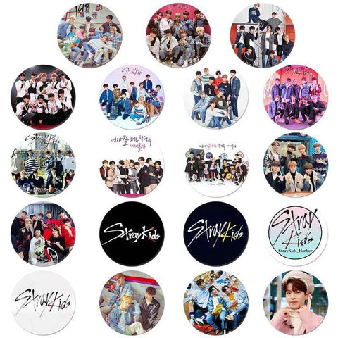 2MB Kpop Stray Kids Round Badge For Bag Hats - MH