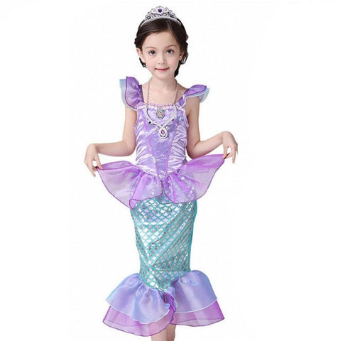 Little Fairy Mermaid Tail Costume for Kids Girls - MH