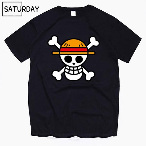 4MB Men's One Piece Luffy Harajuku Funny Cotton T Shirts - MH