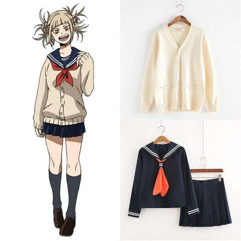 1MB My Hero Academia Cosplay Uniform Women Sailor Suits with Sweaters - MH