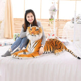 New Soft Stuffed Animals Tiger Plush Toys Pillow Cartoon Animal Big Pattern Kawaii Doll Cotton Girl Toys For Children - MH