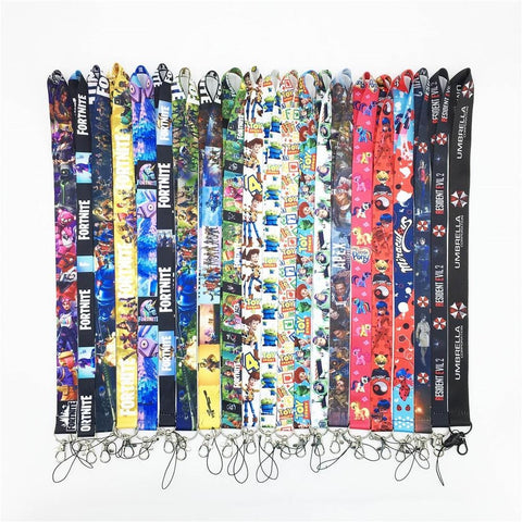 1MB New one Cartoon Popula Anime Game Lanyard ID hot Cello Phone Neck Strap Keys Lanyards #42412 - MH