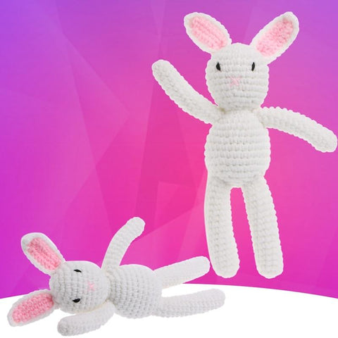 Newborn Baby Girls Boys Rabbit Photography Prop Photo Crochet Knit Toy Cute Gift - MH