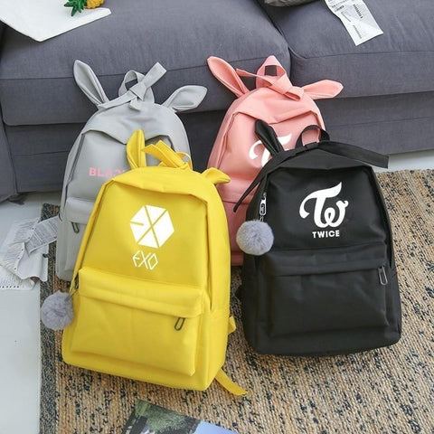 2MB KPOP Cute Backpack (Exo, Got7, Wanna One, Blackpink, Monsta X ,Twice, BTS) - MH