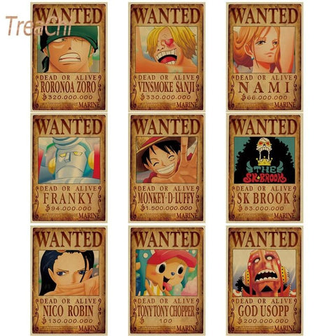 4MB One Piece Wall Stickers Vintage / Wanted 50*35cm - MH