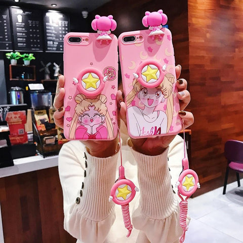 Sailor Moon Cute Pink Silicone iPhone Case - MH
