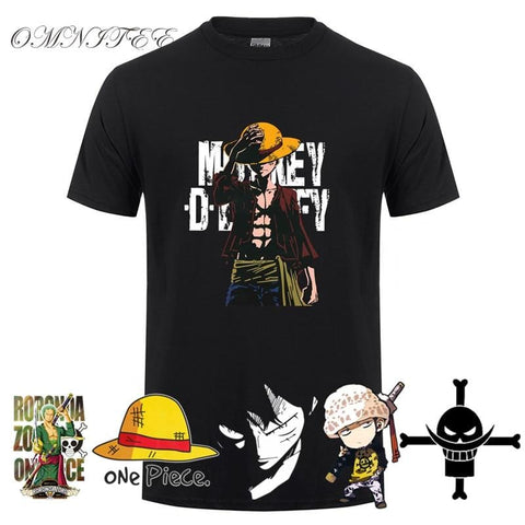 4MB Summer Men Monkey D Luffy T Shirts - MH