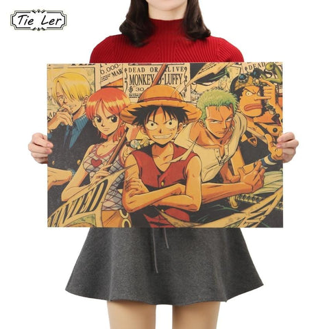 4MB TIE LER One Piece P Style Poster / Decorative Painting 51.5X36cm - MH