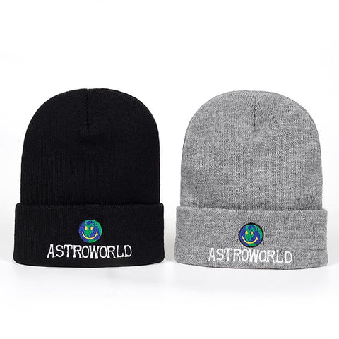 Travi$ Scott Knitted Hat 2018 New ASTROWORLD Beanie embroidery Astroworld Ski Warm Winter Unisex Lil Peep Skullies Beanies - MH