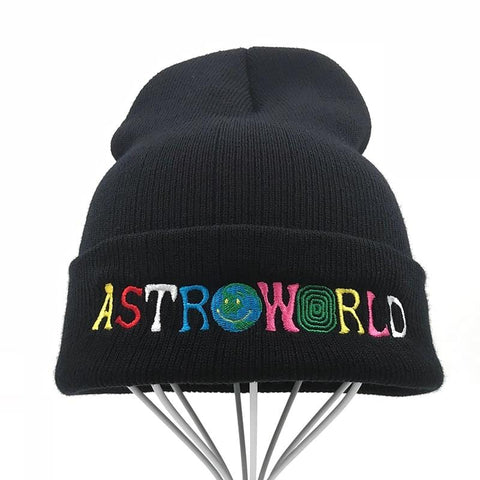 Travi$ Scott Knitted Hat 2018 New ASTROWORLD Beanie embroidery Astroworld Ski Warm Winter Unisex Travis Scott Skullies Beanies - MH