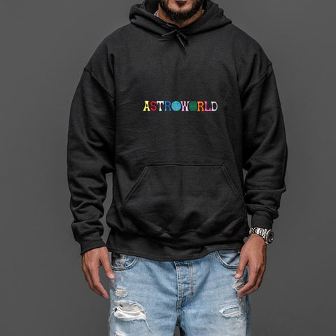 Travis Scotts ASTROWORLD Hoodies Man The Embroidery Letter Print Swag WISH YOU WERE HERE Hoodie Plus US Size S-XXL - MH