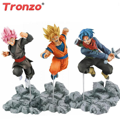 2MB Tronzo Action Figure Dragon Ball Goku Trunks Zamasu PVC Action Figure Toys Dragon Ball Super Saiyan Rose Goku Black Model Toys - MH