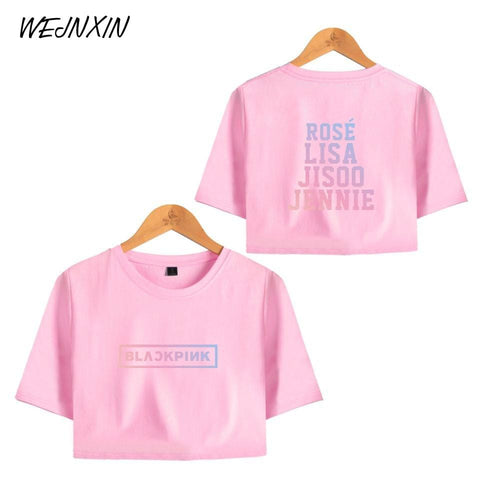 2MB  Kpop Blackpink Sexy Crop Tops exposed T-shirts - MH