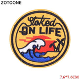 1MB ZOTOONE Alien White Cat Rose Panda Snake Hand Spider Patch Cartoon Iron On Cheap Embroidered  Patches For Clothes Anime Badges A - MH