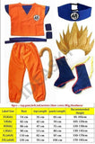 2MB dragon ball z goku costume Suit Son Cosplay Costumes For Adult Kids children boys girl kid child wig clothes set fancy halloween - MH