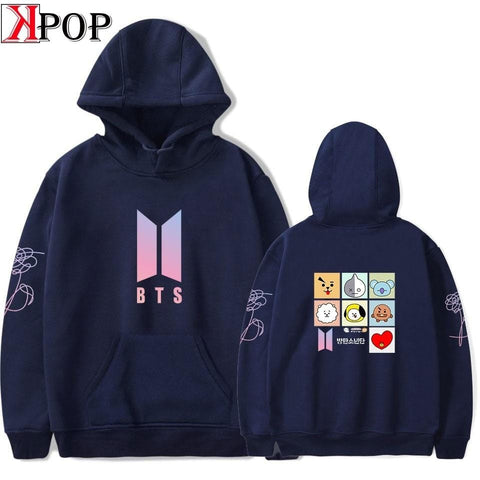 bangtan Men Womens Long Sleeve Hooded Sweatshirt Loose Casual Warm Hoodies Sweatshirts 6 Colors Female Jumper Tracksuits
