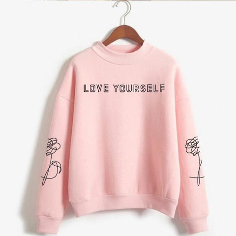 Love Yourself kpop Capless Sweatshirts outwear Hip-Hop Women and men Turtleneck New DNA  K-pop Clothes 2019 - MH