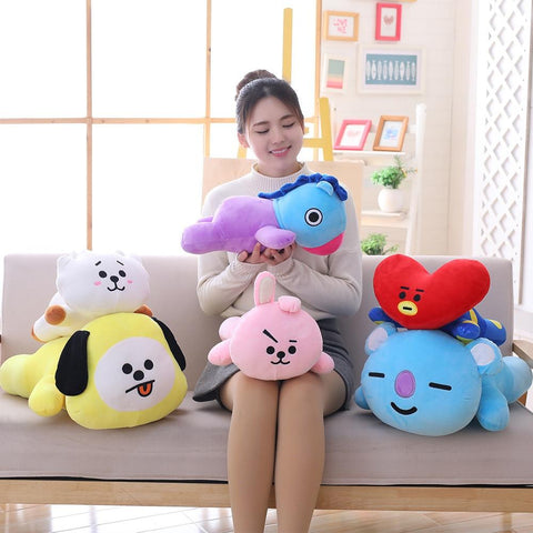 35cm / 50cm BT21 Plush Toys Pillow Cute Pillow Cushion Doll Stomach Pillow