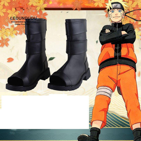 Naruto Black PU Leather Shoes