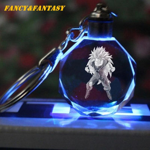 Dragon Ball Z Son Goku Super Saiyan 3 Crystal Keychain - MH