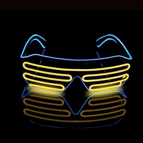 Novelty LED Glasses Light Up Shades Flashing Luminous Rave Night Christmas Activities Wedding Birthday Party Decoration 4 Colors - MH