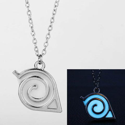 Luminous Naruto Necklace Kakashi Leaf Village Symbol
