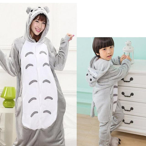 Kids & Adult Totoro Onesie Cosplay