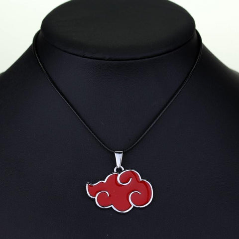 Naruto Akatsuki Red Cloud Logo Necklace