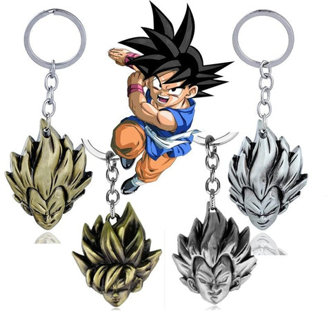 Gold/Silver Dragon Ball Z Vegeta x Son Goku Key chains - MH