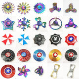 Rainbow Hand Finger Fidget Spinner gyro Eye Electroplate Hybrid Bearing Zilver Zinc Alloy Metal EDC Hand Tri spiner SZJD - MH